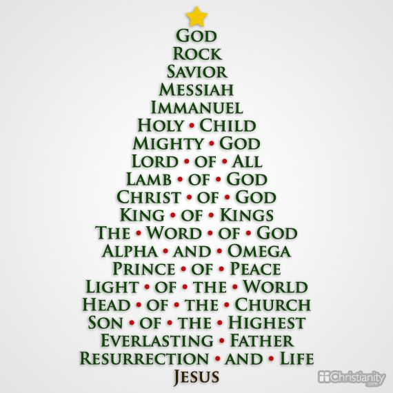 8782-ea Christmas tree Rock Savior Messiah Immanuel names of God Prince of peace Jesus